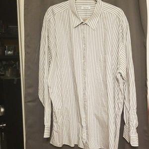 Calvin Klein men's long sleeve shirt sz 19/36/37